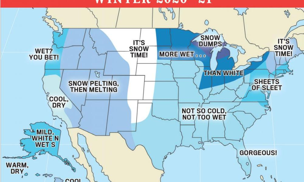 The 2021 Old Farmers Almanac Winter Weather Forecast Prediction