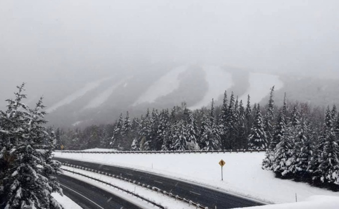 First Snow Of The Season For The East!