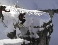 Start Your Day With Some Classic Skinny Ski Cliff Hucking From TGR