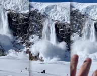 Avalanche Caught On Camera During Halfpipe Training Run