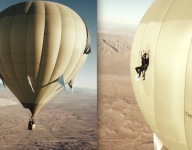 Sliding Off A Hot Air Balloon Is Only Cool If You're Wearing A Parachute