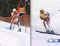 Slalom Gate To The Groin...The Most Painful of Ski Crashes