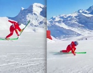VIDEO: Carving A Screamin' Seamen On Tele Skis
