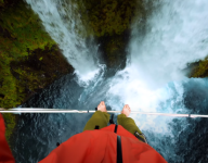 GoPro: Highlining Over Waterfalls in the Pacific Northwest