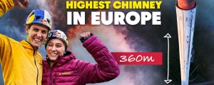 Climbing Europe's Highest Chimney (Hardest & Longest Artificial Climbing Route Ever Made)