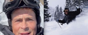 VIDEO: Rob Lowe Skis Powder In The Grand Tetons