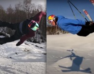 VIDEO: Professional Snowboarder Is A Better Skier Than You Will Ever Be