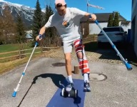 Injured Skier Does Post-Surgery Parkour