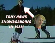 RARE Footage of Tony Hawk Learning To Snowboard in 1988