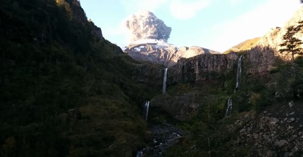 Hiker Accidentally Captures The Exact Moment A Volcano Erupts
