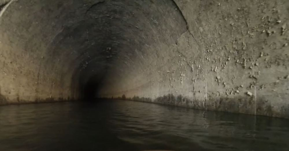 Historic Drought Exposes Kayaking Route Through Abandoned Railroad Tunnel