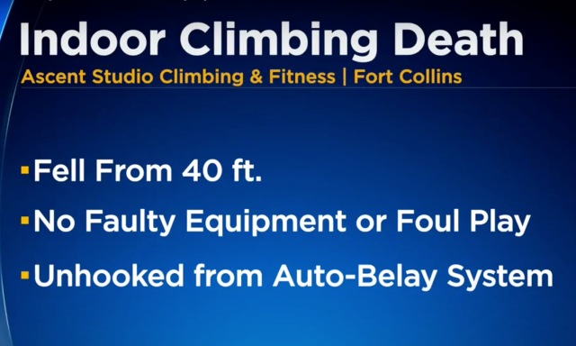 Woman Falls 40ft To Death At Indoor Climbing Gym in Colorado