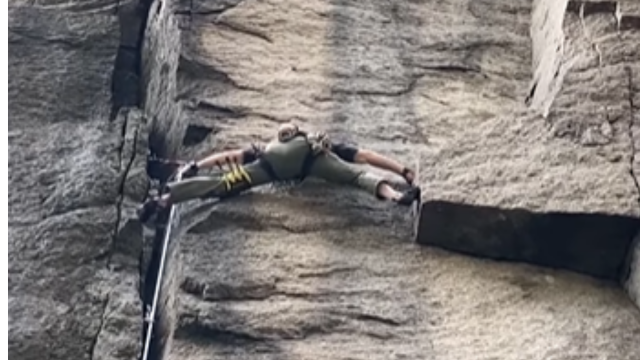 The Most Impressive Rock Climbing Move You'll See Today