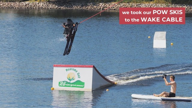 VIDEO: Do Powder Skis Work At A WakePark...Find Out