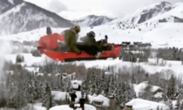 Start Your Day With Inflatable Canoe Sending It HUGE In Idaho