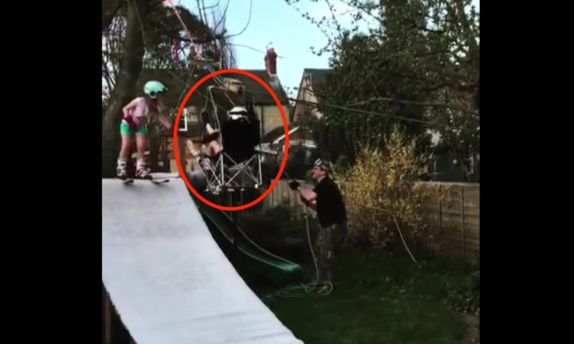 Dad of the Year Builds Backyard Chairlift and Ski Slope