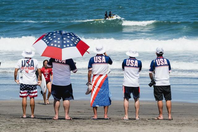VIDEO: Men's Surfing Makes Olympics Debut