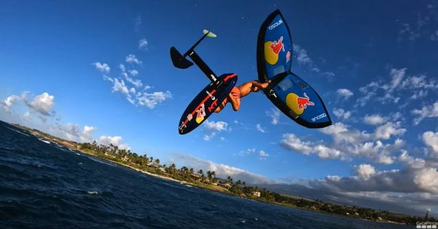 Kai Lenny Goes Wing Foiling In Hawaii