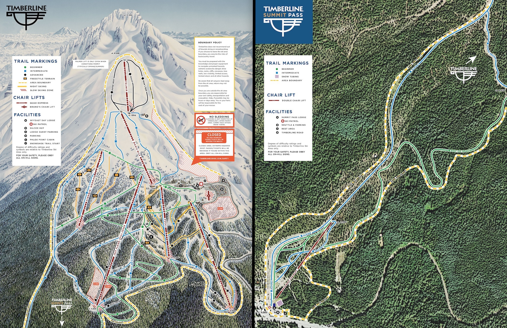 Summit Ski Area Officially Merges into Timberline Lodge = The Largest Vertical Ski Area in America