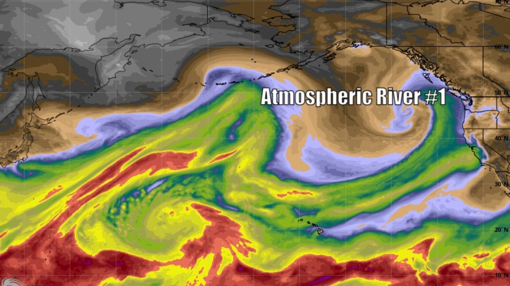 Atmospheric Rivers To BLAST The Sierra With Several FEET of SNOW